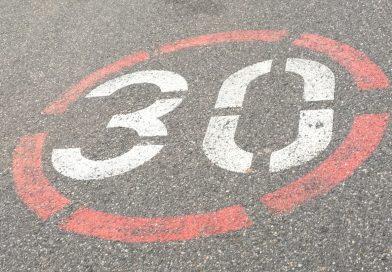 Antrag auf Kennzeichnung der Gemeindestraßen mit der Aufschrift »30«